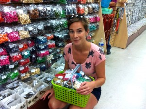 Johanna and her beads